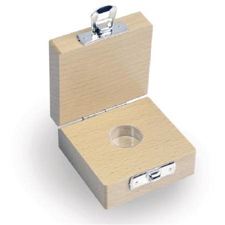 Etui en bois pour les poids individuels avec valeur nominale 1 mg - 500 mg