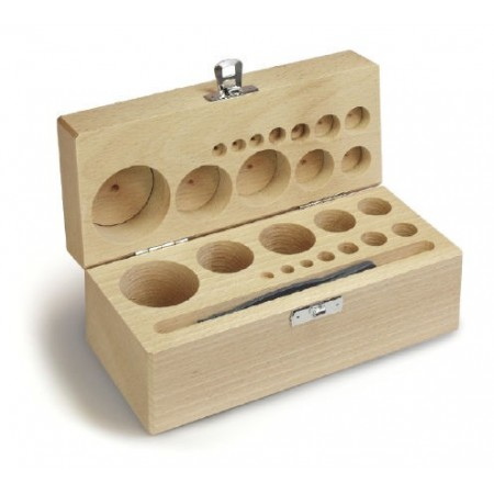 Wooden box for individual weights sets F2, M1, M2 et M3 - 335-0x0-200