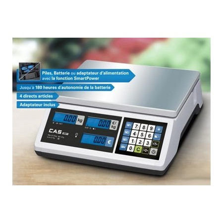 Retail Flat Plate Scale ideal for mobile and portable businesses - CAS ER JR