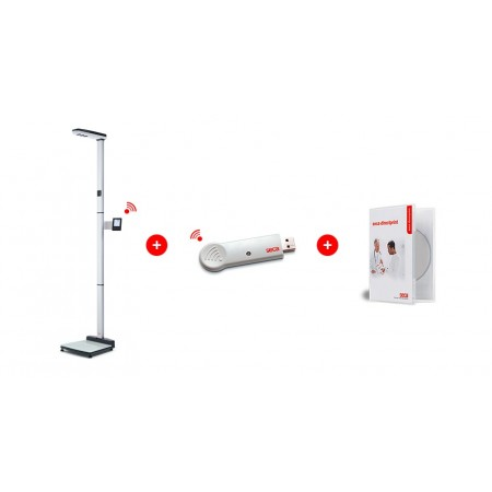 EMR ready ultrasonic measuring station for height and weight with voice guidance, Class III medically approved SECA 287 dp