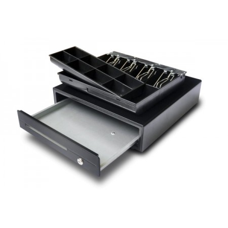 Compact cash drawer in metal 410x420 mm - CDR-R41-12-B