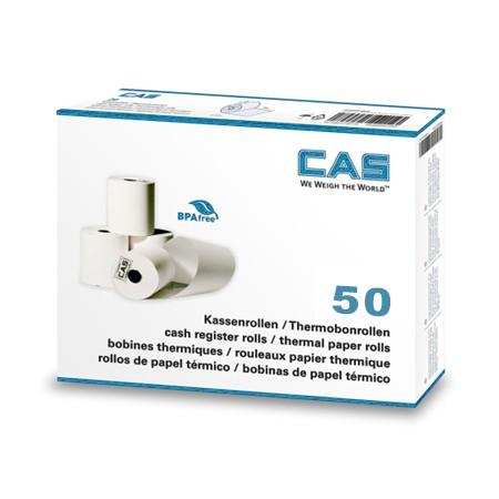 Carton de 50 bobines papier thermique 54x63x12mm