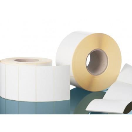 Lot de 36 bobines de 600 étiquettes (COULEUR BLANCHE), dimensions 58x60x40mm - ETQ 58x60x40mm BLANCHE
